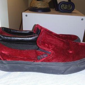 Vans Velvet Sneakers Size Men's 6.5